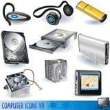 7 komputerowych ikon Zdjęcie Stock