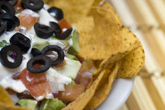 7 Layer Bean Dip Stock Photography