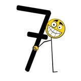 7 lyckliga nummer sju för alfabet Royaltyfri Foto