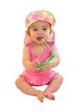 7 maanden baby klaar voor de zomer Royalty-vrije Stock Afbeeldingen