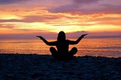7 medytacji obraz stock