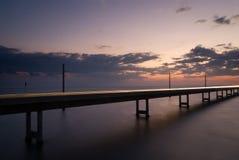 7 Meile Brücke nachts Stockbild