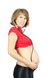 7 meses de mujer embarazada Fotografía de archivo libre de regalías
