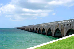 7 mile bridge Florida Keys. 7 mile bridge in Florida Keys USA Royalty Free Stock Photos