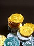 7 mynt Arkivfoton