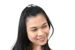 7 naturliga barn för asiatisk flicka Royaltyfri Foto
