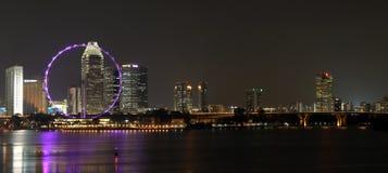 7 nuit Singapour Photos libres de droits