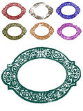 7 Ornate Borders. 7 Grunge Ornate Borders (Transparent Vectors so they can be overlaid on to other illustrations etc royalty free illustration