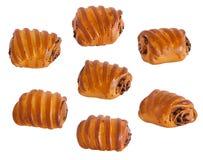 7 panini casalinghi dei rulli con i semi di papavero Fotografia Stock Libera da Diritti