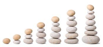 7 pile di pietre Immagini Stock Libere da Diritti