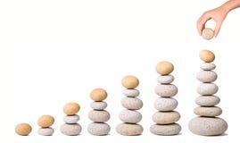 7 pilhas de pedras Imagem de Stock Royalty Free