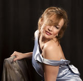 7 portret piękna kobieta Zdjęcia Stock
