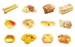 7 séries cuites au four de marchandises Photographie stock libre de droits