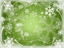 7 snowflakes vektor illustrationer