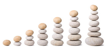 7 Stacks Of Stones Royalty Free Stock Images