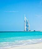 7 star luxury hotel on Dubai beach Royalty Free Stock Photo
