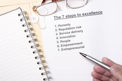 7 steps to excellence Royalty Free Stock Image