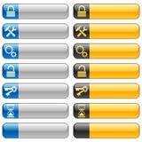 7 sztandarów guzików ikon sieć Zdjęcia Stock