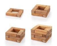 7 träblock Arkivbilder