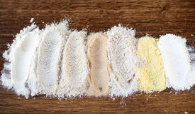 7 types of flour Stock Image