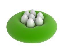 7 uova su un ammortizzatore royalty illustrazione gratis