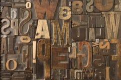 7 woodtype 免版税库存照片