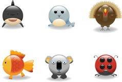 7 zwierząt ikona Obrazy Stock