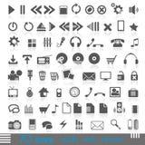 70 εικονίδια Στοκ Εικόνες