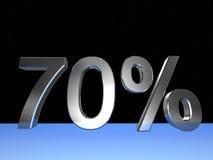 70 τοις εκατό Στοκ Εικόνα