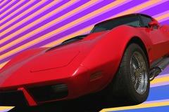 70 czerwono s sport samochodów Zdjęcie Stock