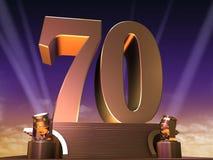 70 de oro Imagen de archivo libre de regalías