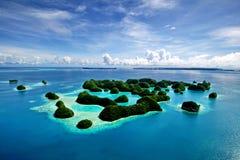 70 islands Palau. Top view of 70 islands Palau Stock Photography