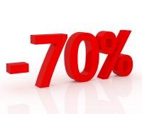 70% korting Royalty-vrije Stock Foto