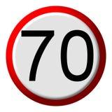 70 límite - muestra de camino Imagen de archivo libre de regalías