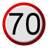 70 limit - road sign. 70 limit speed - road sign Royalty Free Stock Image