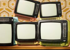 70. Retro- Fernsehapparat Stockfoto