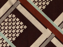 70´s design. On woven fabric Royalty Free Stock Photos