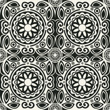 70's wallpaper pattern. Vector illustration of a 70's wallpaper. Seamless pattern Royalty Free Stock Photos