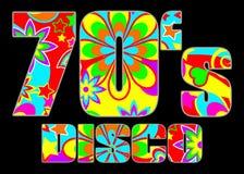 70 seventies för disko s stock illustrationer