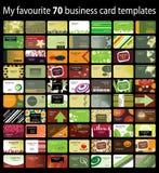 70 Visitenkarte-Hintergründe Lizenzfreies Stockfoto
