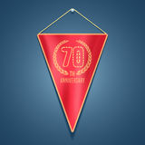 70 years anniversary vector icon,  logo Royalty Free Stock Image