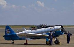7059 - N. American AT-6C Harvard Mk 3 - Nellie. North American AT-6C Harvard Mk 3 - smoke start Royalty Free Stock Image