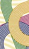 70s background. Abstract retro style background made out of various color lines / 70s background Stock Photo