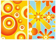 70s decor. Two wallpapers 70s style nice for background Royalty Free Stock Photos