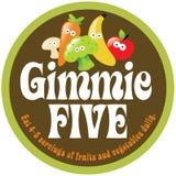 70s five gimmie label promo sticker Στοκ Εικόνα