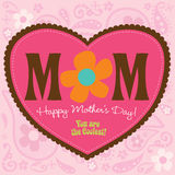 70s Style Mothers Day Card Stock Photos