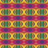 70s vector psychedelic pattern with stripes Royalty Free Stock Photo