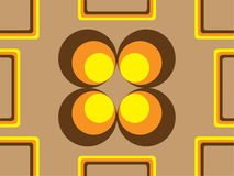 70s wallpaper 1. Vector image of 70s wallpaper - repeatable pattern stock illustration