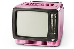 70ste Retro TV Royalty-vrije Stock Afbeeldingen