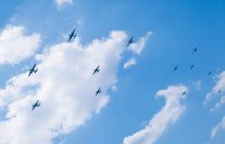 A 70th reunião dos aviões atacantes de Doolittle Imagens de Stock